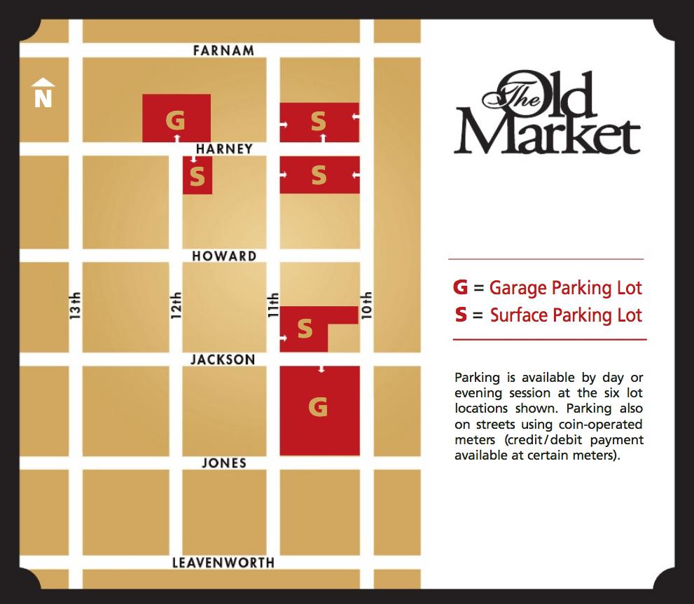 Old Market Parking Maps And Information Omaha Ne